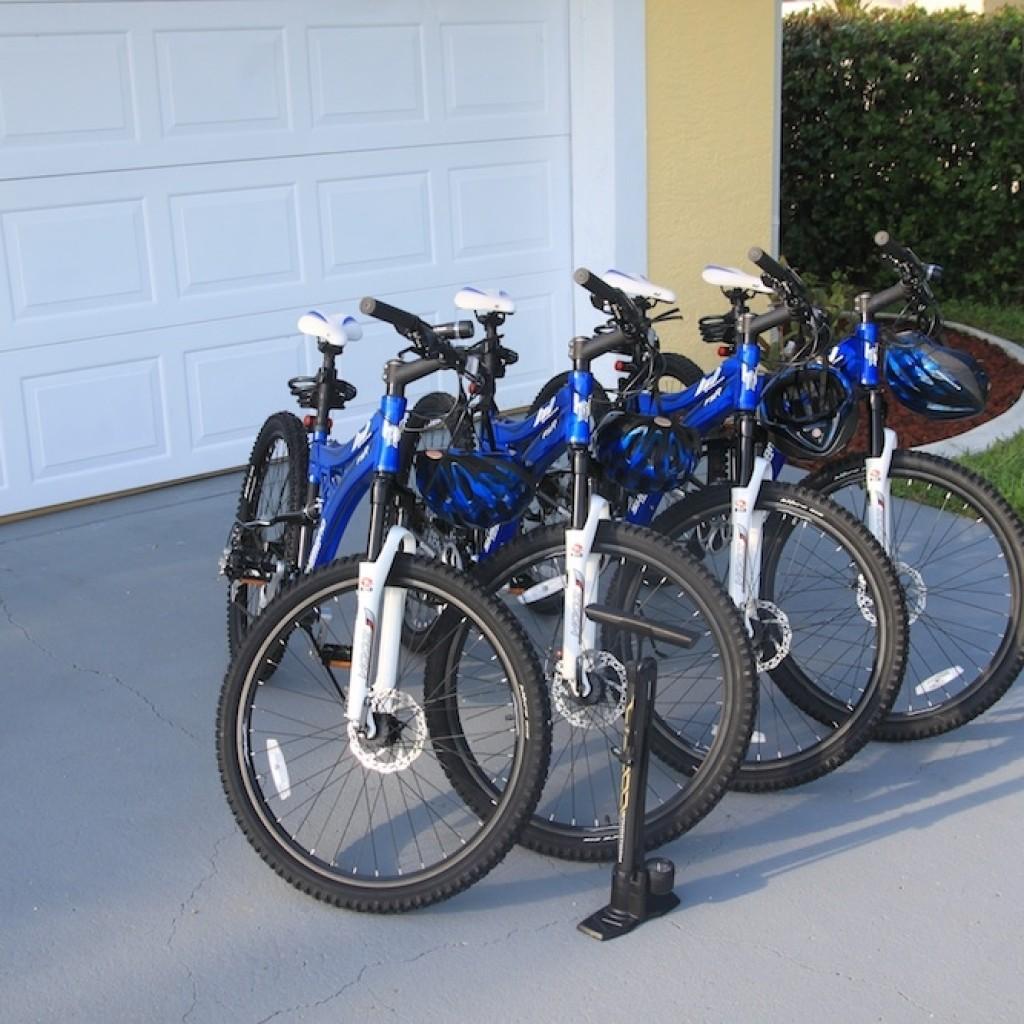 Vier kostenlose Fahrräder